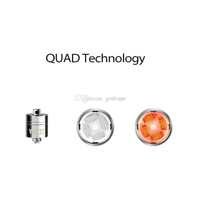 Qualität Yocan Evolve PLUS XL Spulen Quad-Quarz-Coil Ersatzteile Wachs Dry Herb Vaporizer Für Yocan Evolve PLUS XL Batterie Starter Kits