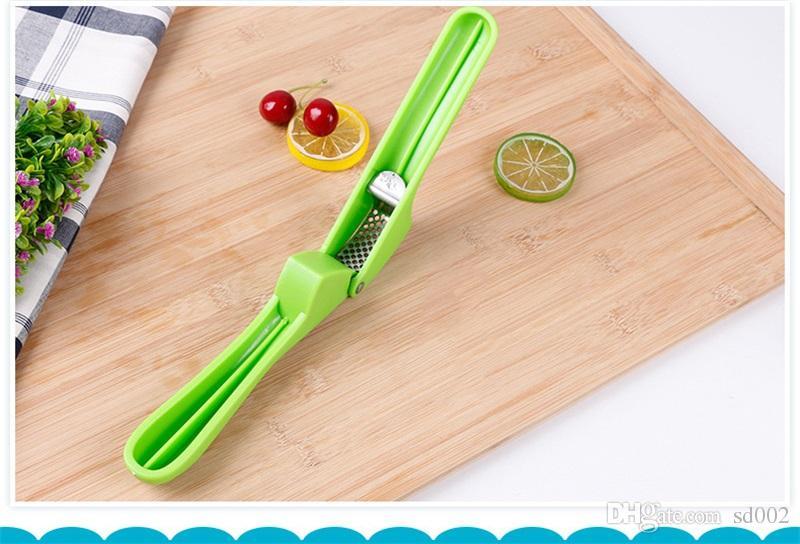Aço inoxidável Alho Presses Multifunction Creative Kitchen Vegetable eficiente ferramenta Sharpen Ginger dermoabrasão Prop Factory Direct 4xz X