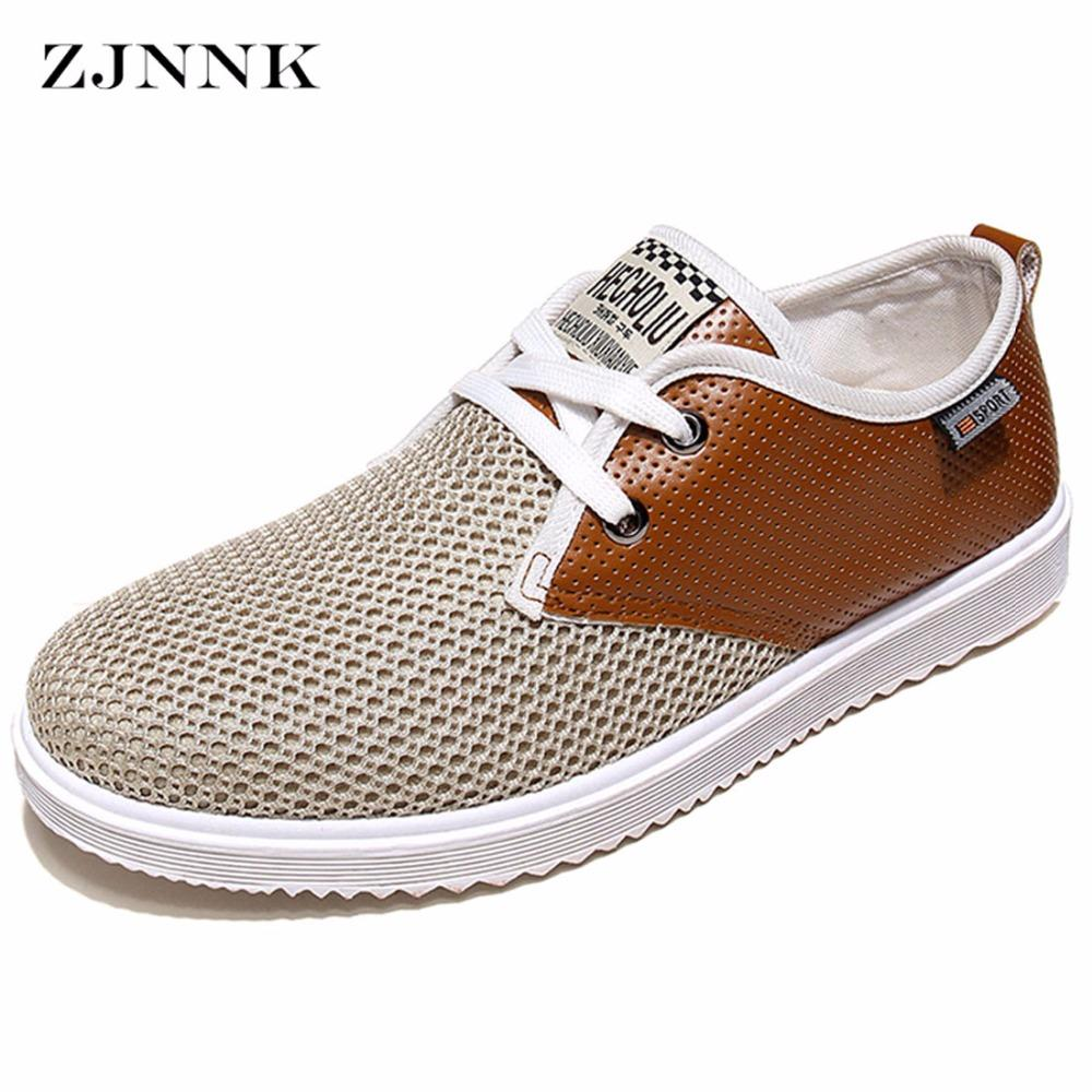 Zjnnk Hot Sale Men Summer Shoes Breathable Male Casual Shoes Fashion  Chaussure Homme Soft Zapatos Hombre Summer Men Cool Shoes Mens Sandals  Dress Shoes From ... 00e3cb44dadd