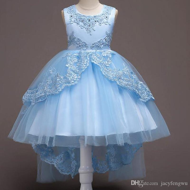 ba3b0d17231be Girls Ball Gown Dresses Children skirts Baby Princess Dress Kids Party  skirt clothing Boutique dance Costume acting clothes up 170cm LF022