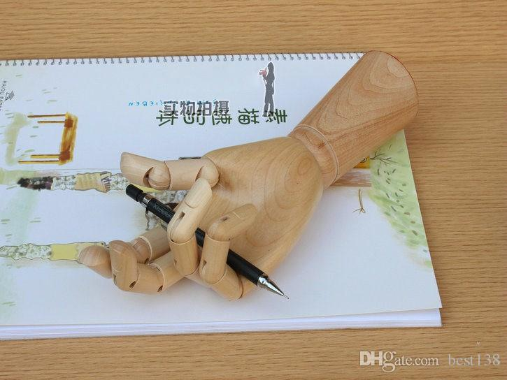 High Level Crafts Painting Joint Wooden Hand Model Cartoons Joint Wooden Hand For Pinceis Drawing Model Sketch Mannequin Art