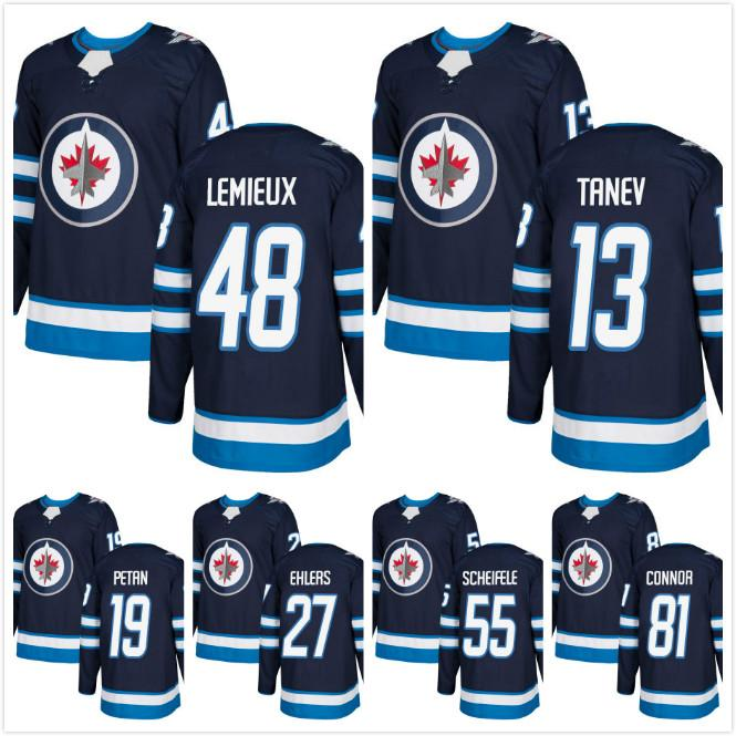 b043f14e2 2018 AD Winnipeg Jets Brendan Lemieux Hockey Jerseys 13 Brandon Tanev 27  Nikolaj Ehlers 19 Nic Petan Kyle Connor 55 Mark Scheifele Jerseys Free  Shipping ...