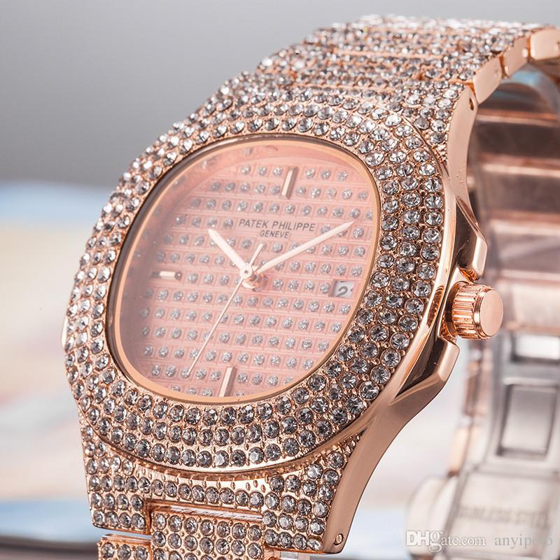 Grosshandel Rose Gold Luxus Diamant Uhr Frauen Manner Top Marke Pp
