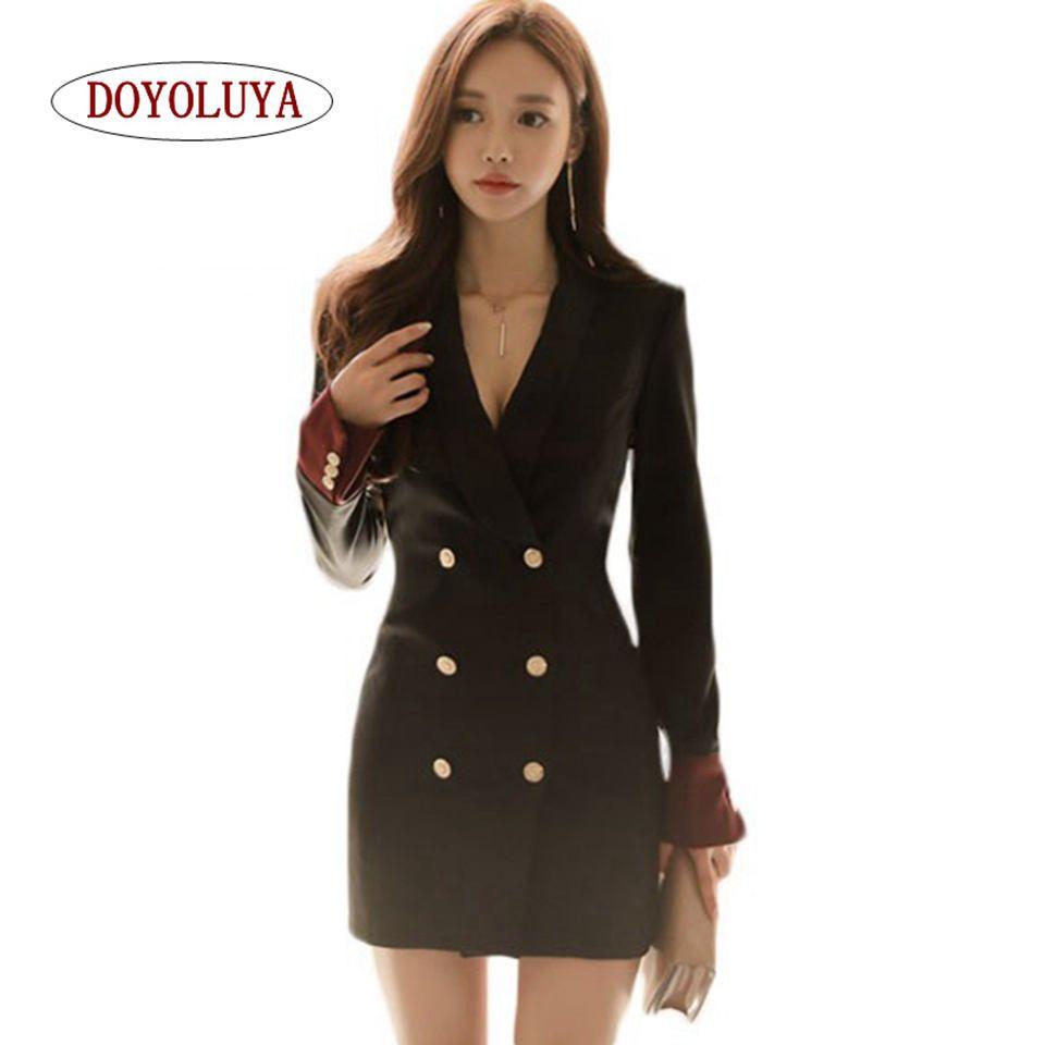 2019 Doyoluyawinter Autumn Women Blazers Simply Fashion Velvet