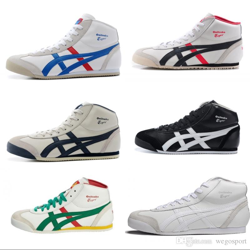 99ec8d38ca594 Scarpe Bianche New Top Asics Onitsuka Tiger Scarpe Da Corsa Donna Uomo  Confortevole Zapatillas High Top Athletic Sport Outdoor Sneakers Eur 36 44  Con ...