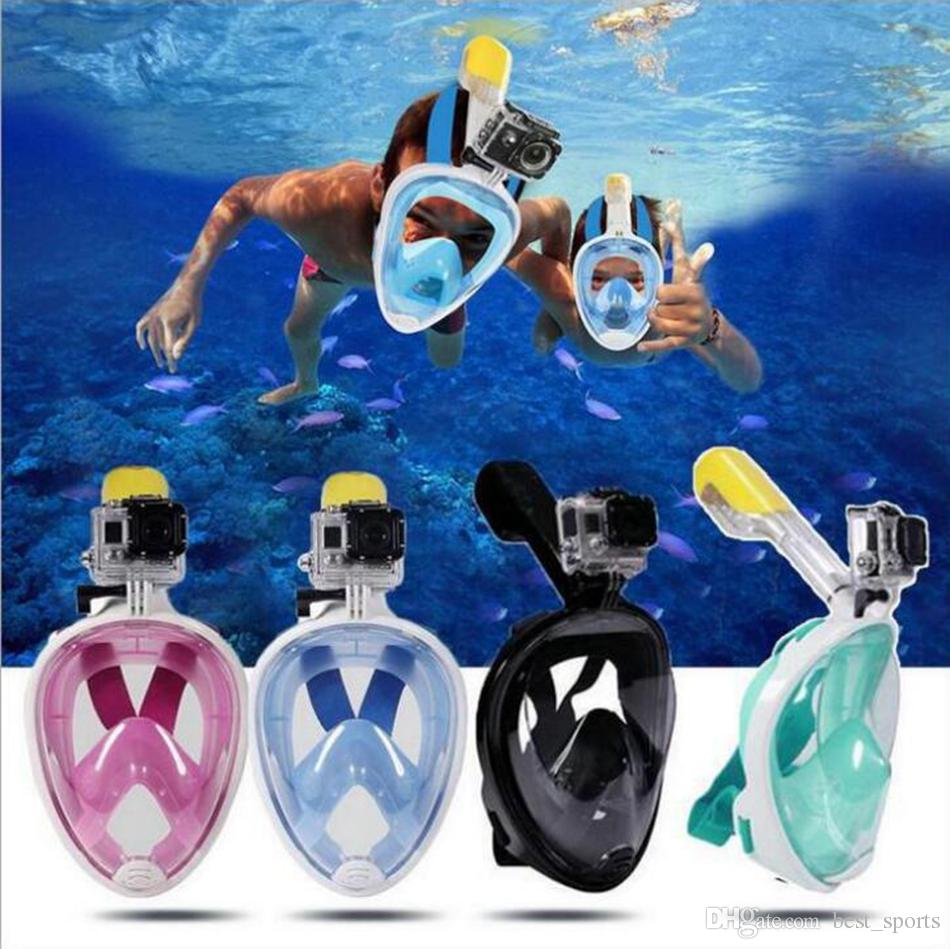 Full Face Mask Swimming Underwater Diving Snorkel Training Scuba Mergulho Mask Respiratory Masks Pool Accessories OOA4911