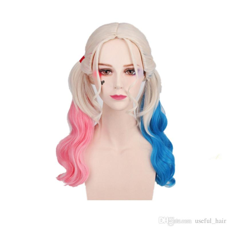 GIFT 2018 Halloween Wigs for Women Long Synthetic Wigs Halloween ... 00acfd6d81