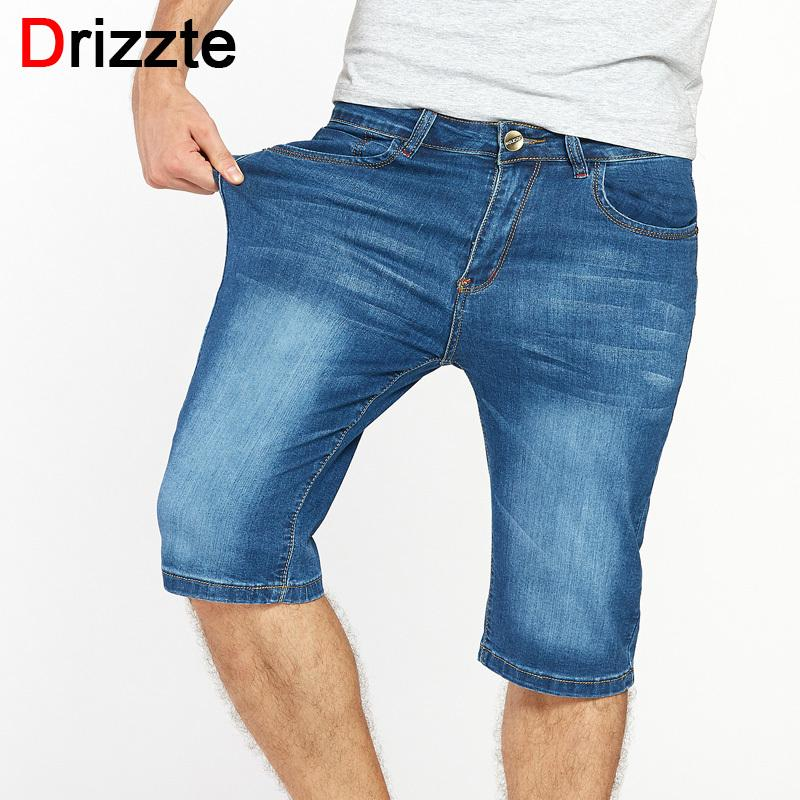 c296421c Drizzte Brand Mens Jeans Shorts Plus Size Stretch Thin Denim Jeans Short  for Men Pants Summer Size 33 35 36 38 40 42 44 46 Jean S913