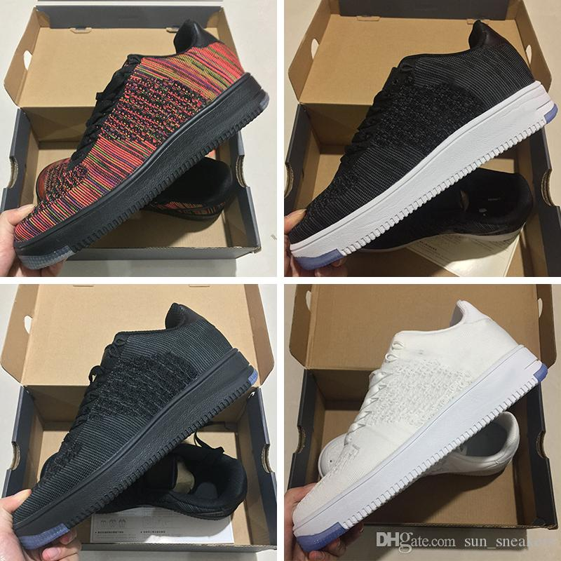 online store 60b0b 2e996 Acquista Nike Air Force 1 Flyknit AF1 Designer shoes Vendita All ingrosso  2018 Scarpe Casual Nuovo Stile Fly Line Uomo Donna FORCe Scarpe Basse  Casual ...