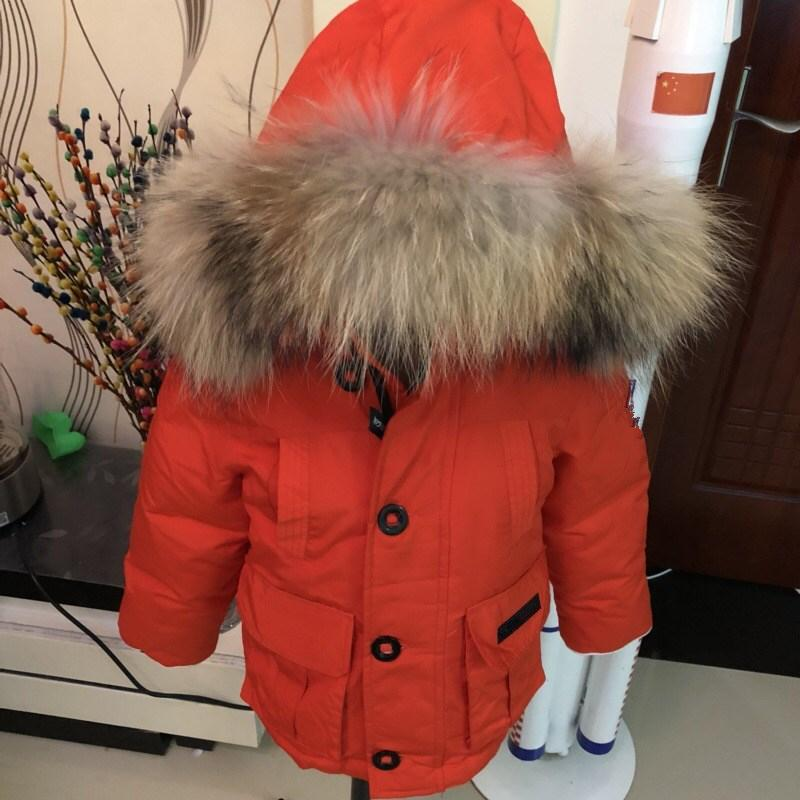 42633ab256e2 Baby Girl Clothes Boy Duck Down Jacket Winter Overalls For Girls ...