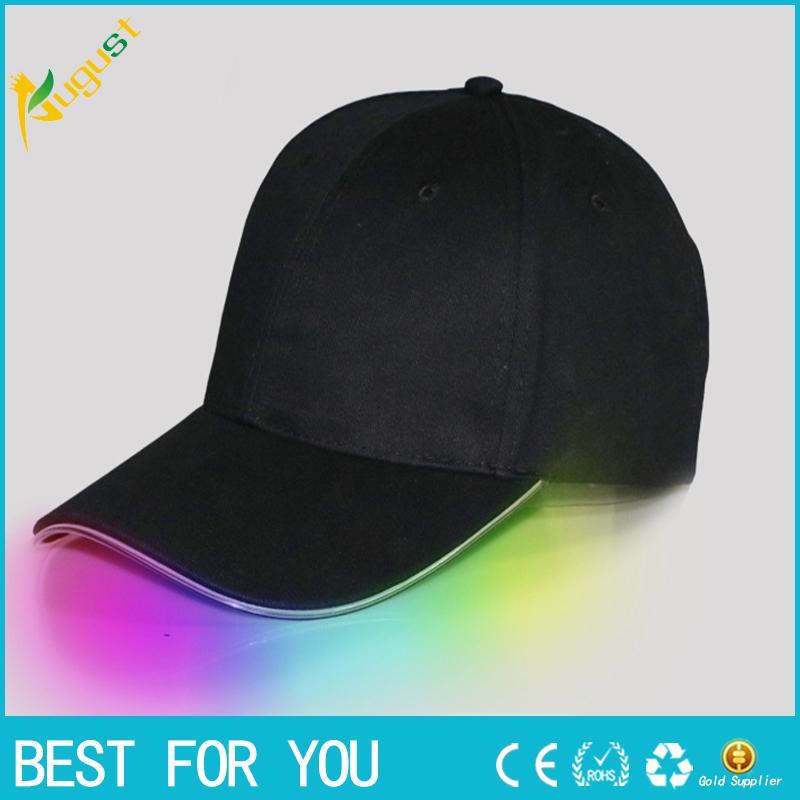 Baseball Hats LED Luminous Party Fiber Optic Hat Women Men Hockey Snapback  Basketball Ball Caps Unisex Visor Tourism Hat Baseball Hat Hat Party Hat  Online ... 4dae0f07b5fb