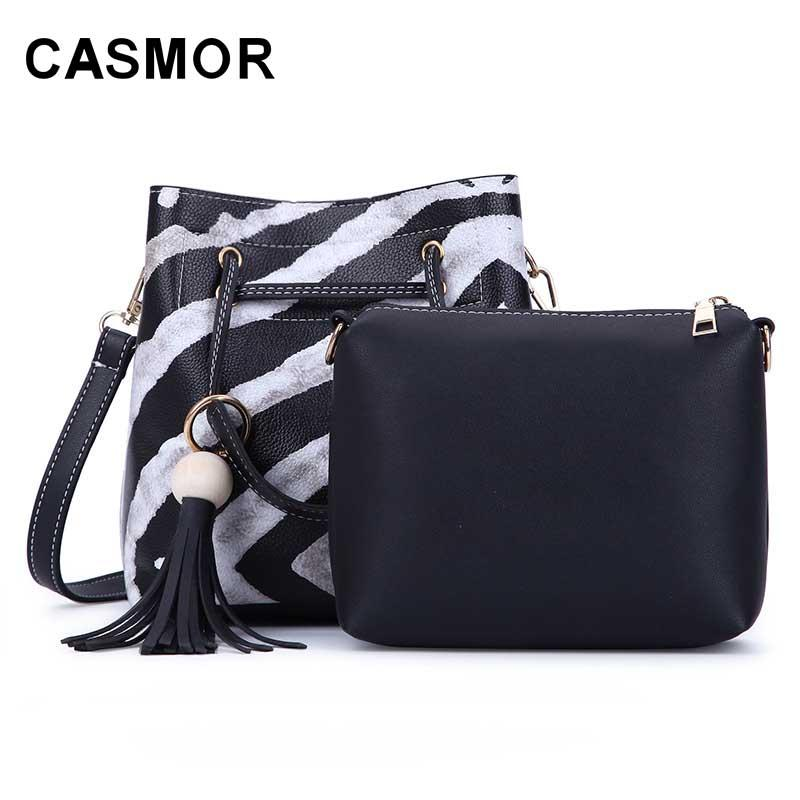 Casmor Leopard Women Shoulder Bags Fashion Pu Leather Composite Bag Famous Brand  Women Bag Tassel Female Handbag Sets Shoulder Bags Cheap Shoulder Bags ... a96b1ed8a7