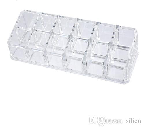 Superieur 12 Lipstick Holder Display Stand Clear Acrylic Table Cosmetic Organizer  Storage Box For Women Jewelry Makeup Container Plastic Storage Boxes Storage  Bins ...