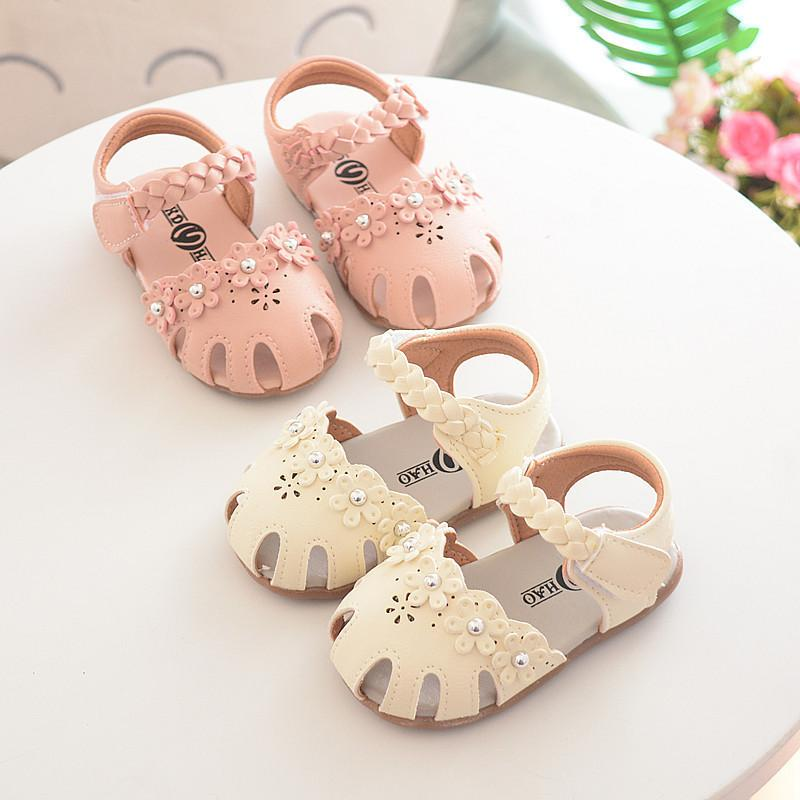 490d8c6f4add4 New Infant Baby Sandals Cute Summer Toddler Girls Shoes Princess Flower  Rubber Bottom Anti Slip Size 4 4.5 5 5.5 6 Toddler Girl Shoes Size 6  Childrens Girls ...