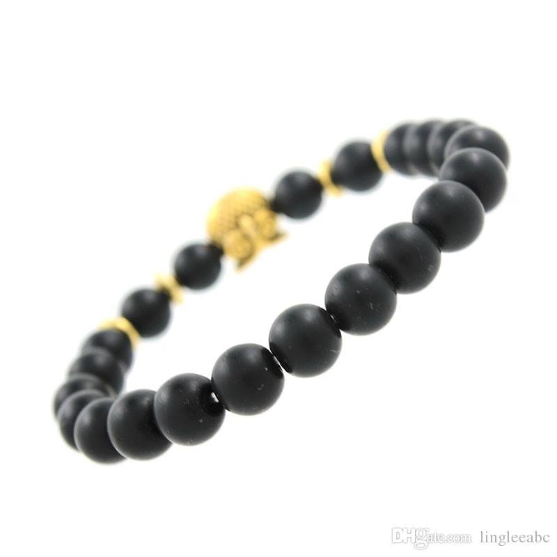 Doğal Taş Siyah Turmalin Boncuk Boncuk Bilezik Bilezik Bileklik Takılar Erkekler Kadınlar Streç Yoga Lava Taş Boncuklu Takı