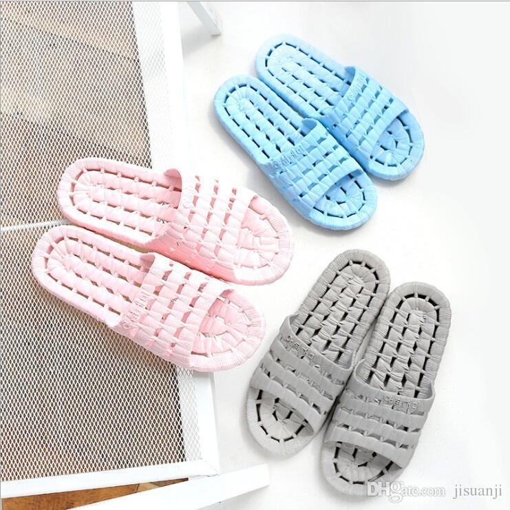 Wholesale Unisex Slippers Non-slip Soft PVC Hotel Shower Room Men's Women's Slippers Multi-color Beach Sandals