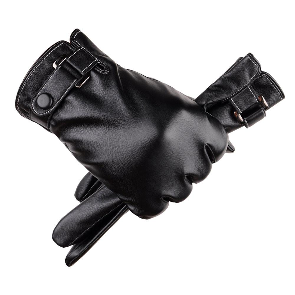 Men Thermal Winter Sports Leather Gloves mobile phone smartphone Men's Genuine Leather High Quality Magic Glove