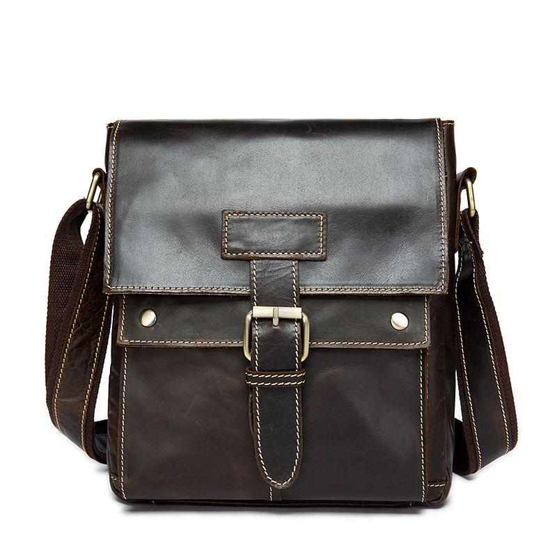 Fashion Leather Messenger Bag Men Leather Shoulder Bags Genuine ... 32a84d29ec248