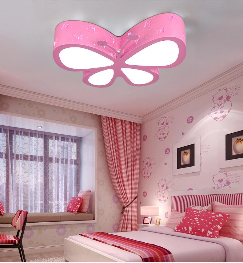 Good 2018 Childrenu0027S Room Led Ceiling Lamp Creative Personality Butterfly  Lighting Fashion Boys And Girls Princess Room Lighting From Grege, $142.26  | Dhgate.Com