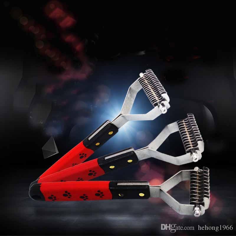 متعددة الوظائف مفيدة 13 شفرات الحيوانات الأليفة الاستمالة فتح الشعر عقدة فرش الفولاذ الصلب قوي للكلب رعاية أمشاط 13zx z