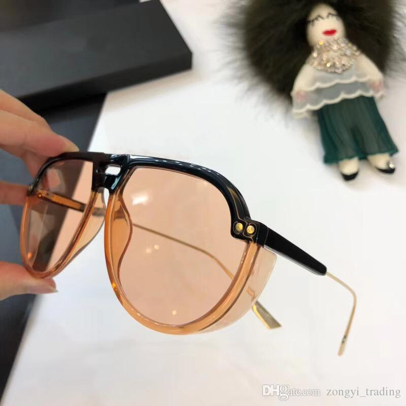 90 DUO New high quality designer womens sunglasses men sun glass with steampunk sunglass pilot frame lunette de soleil 2018