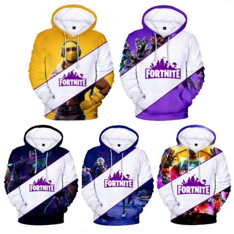4001b684a Pullover Hoodies Fortnite Games Men Sweatshirts Digital Print XXS ...