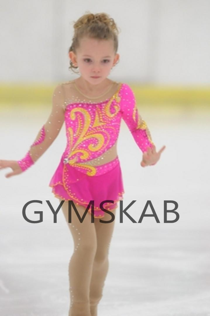 c3a557a970 2018 Graceful Figure Skating Dress Girl's Customized Ice Skating Dress Pink  Long-sleeved Gymnastics Costume 8810