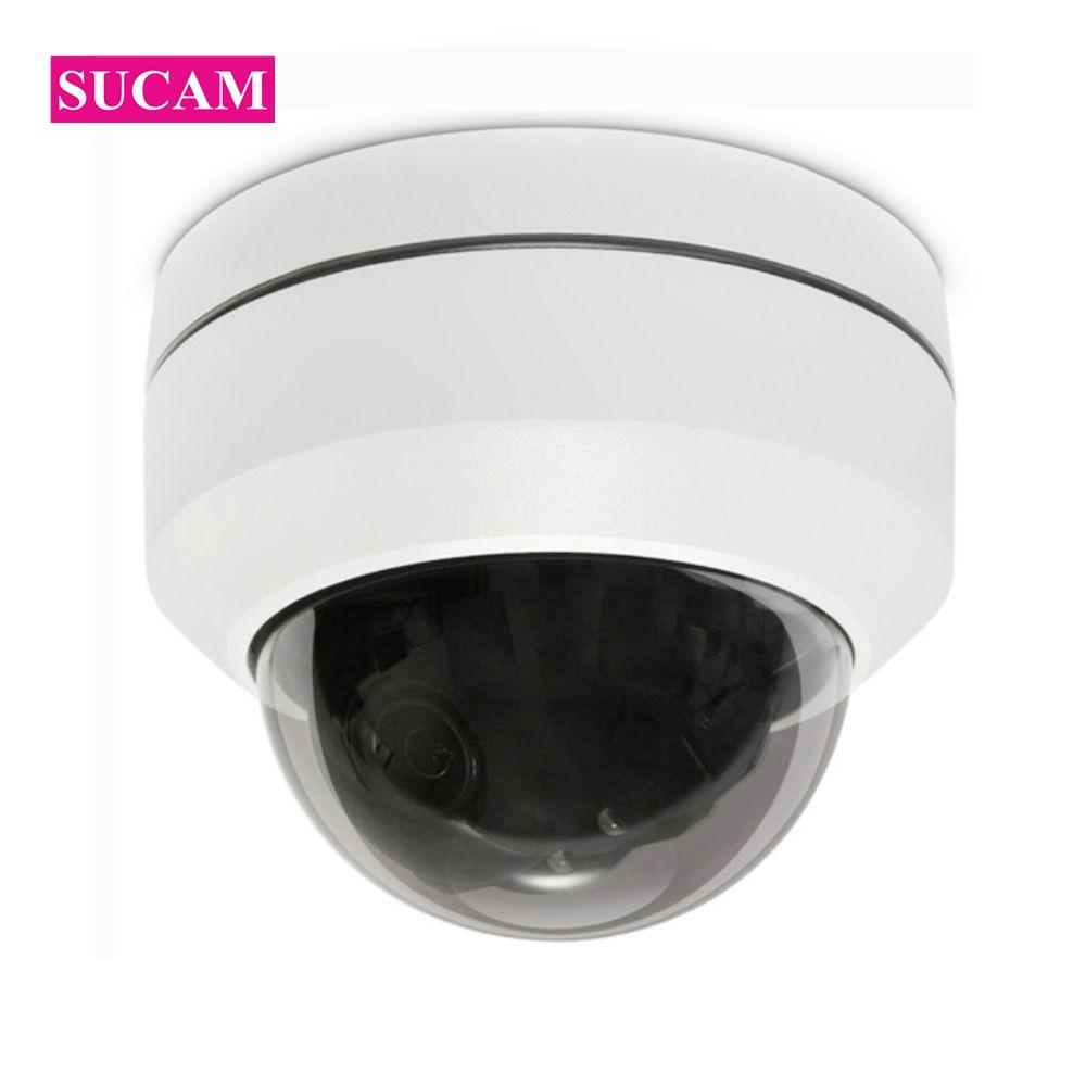 SUCAM Mini Pan Tilt Motorized 4X Zoom 2MP 4MP PTZ IP Camera Indoor High  Resolution Security IR CCTV POE Camera ONVIF 30M IR