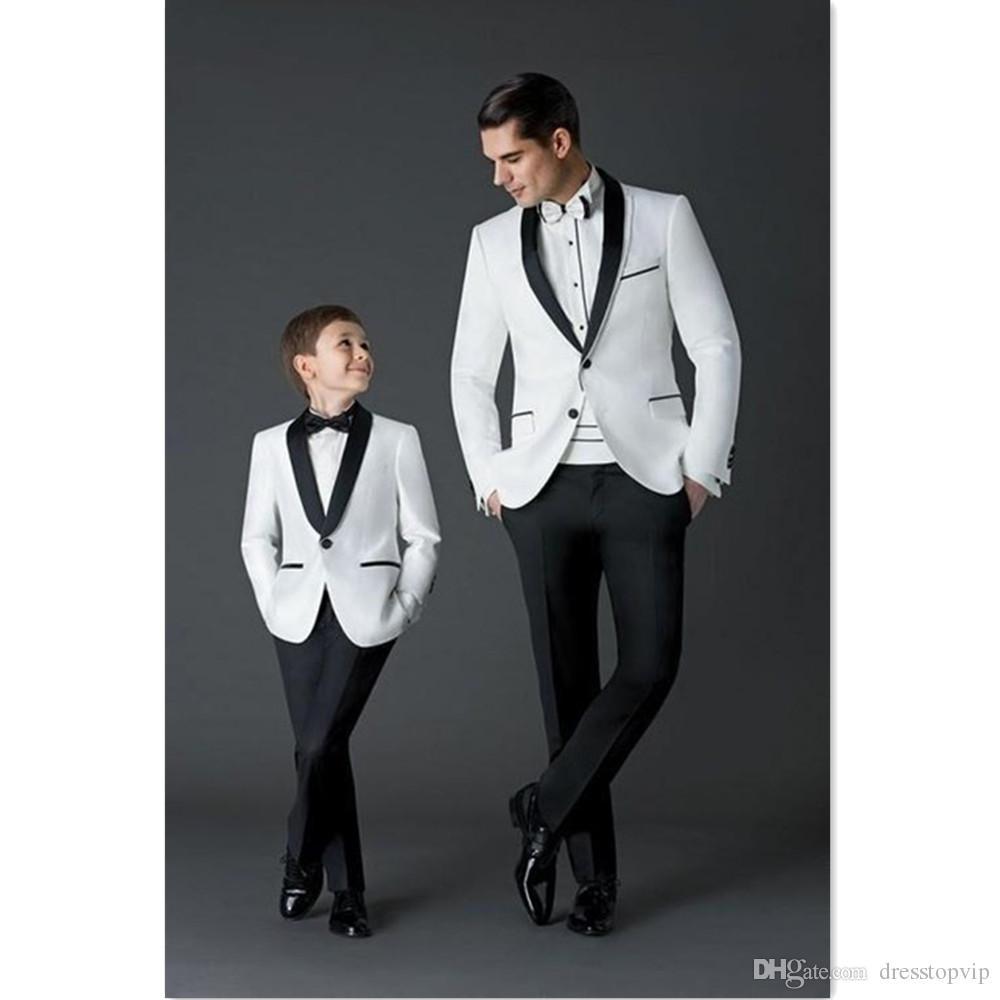 Acheter 2019 Costumes Hommes Mariage Groom Meilleur Homme 2 Pièces Blanc  Veste + Pantalon Slim Fit Hommes Costumes Ensemble Pour Dîner Prom Tuxedos  ... 4c9edf424f0
