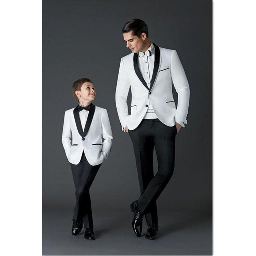 d945dc931f19a Acheter 2019 Costumes Hommes Mariage Marié Meilleur Homme 2 Pièces Blanc  Veste + Pantalon Slim Fit Hommes Costumes Ensemble Pour Le Dîner De Bal  Régulier ...