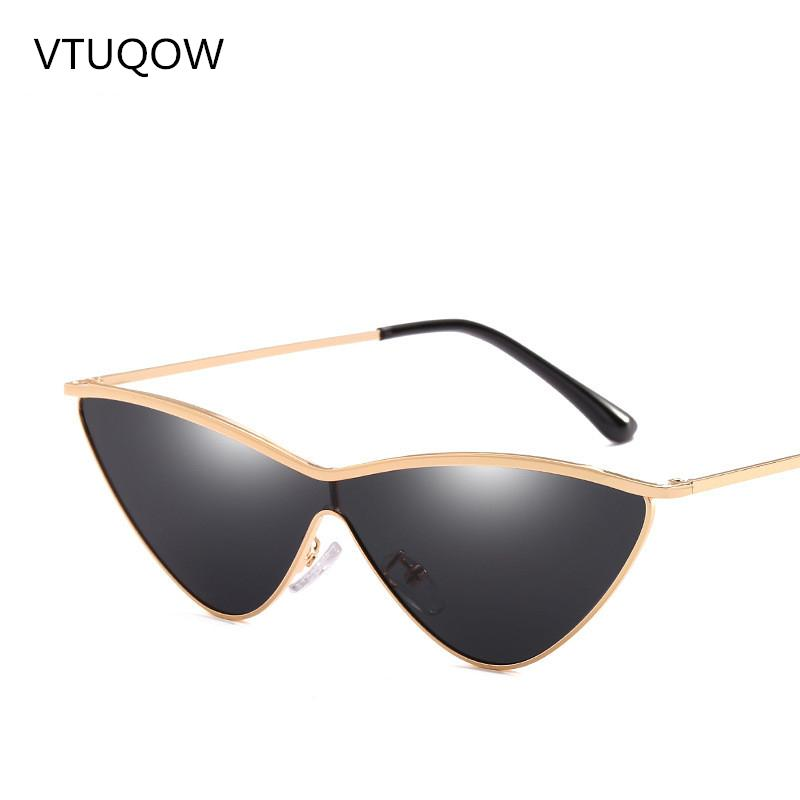 14a3289115c4 Wholesale Sexy Retro Cat Eye Sunglasses Women Brand Designer Siamese  Triangle Vintage Gradient Lens Sun Glasses Lady Female UV400 2019 Online  with ...