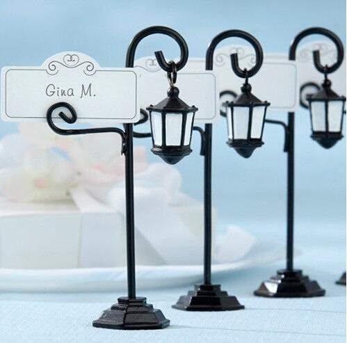 European style street lamp seat clip table place card holder wedding birthday party decoration festival supplies