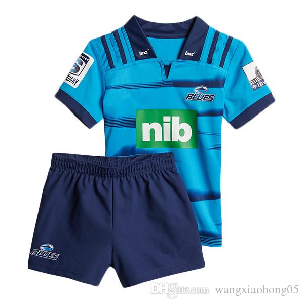 2018 Blues Super Rugby kids JERSEY New Zealand Super Rugby Union blues High-temperature heat transfer shirts size 18-20-22-24-26-28