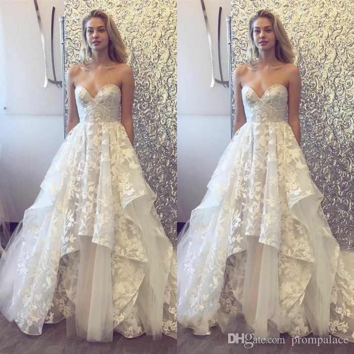 Discount Sexy V Neck Wedding Dresses Lace Dresses Appliques Sweep