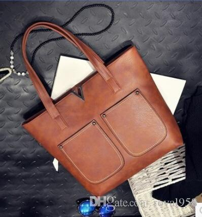 2018 new hot handbags autumn and winter wild large simple simple bulk Tote bag ladies handbag shoulder bag