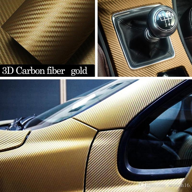 127cmx30cm 3D 3M Auto Carbon Fiber Vinyl Film Carbon Car Wrap Sheet Roll Film Paper Motorcycle Car Stickers Decal Car Styling