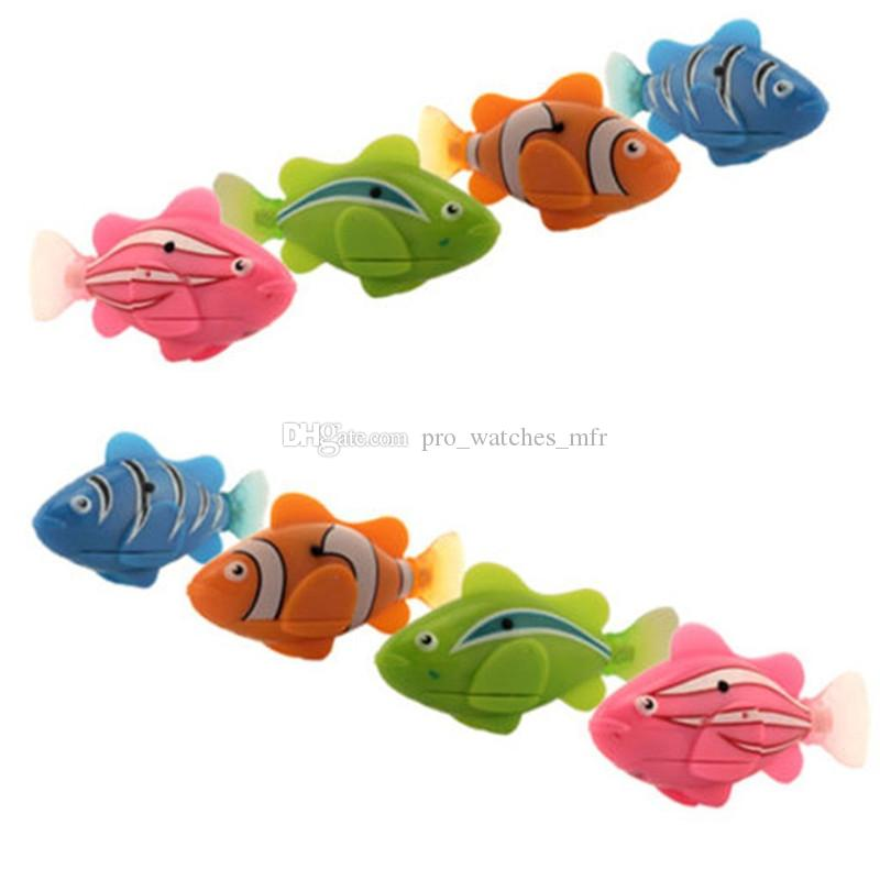 2019 New Funny Swimming Electronic Fish Activated Battery Powered Fishes Toy Fish Robotic Pet For Fishing Tank Decorating Toys Electronic Pets