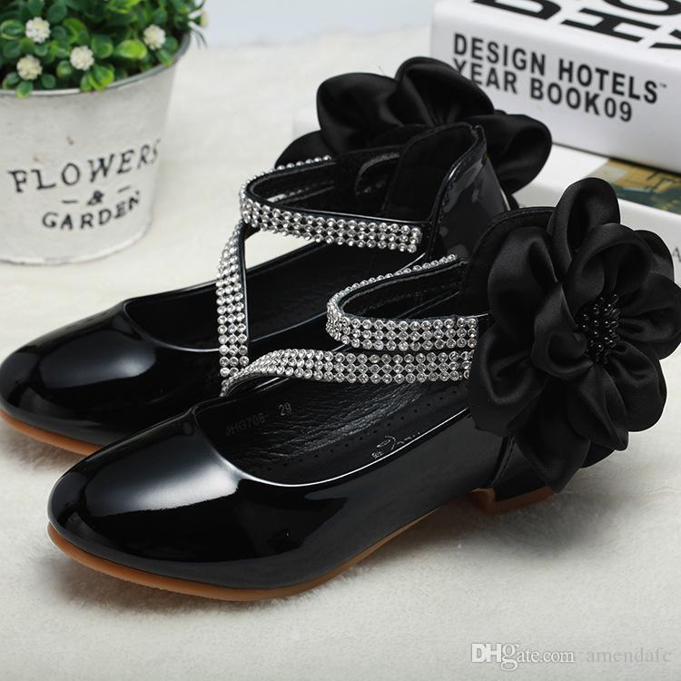 b96509de Compre Marca De Guangzhou Para Niños Zapatos 2018 Nuevas Niñas De La  Escuela Primaria Zapatos Pequeños Tacones Altos En Los Zapatos De La  Princesa A $19.29 ...
