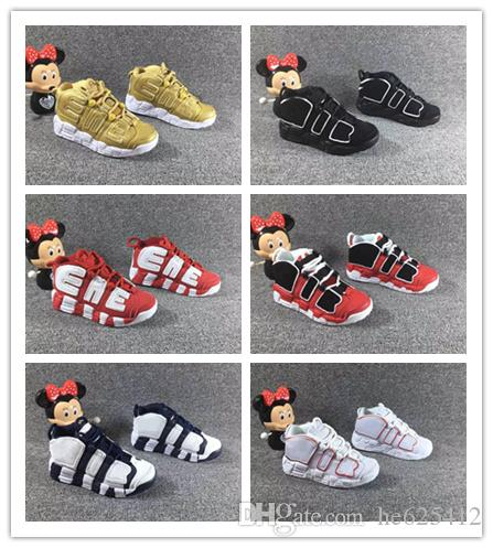 new york 3b3f6 e9f33 Infant More Uptempo Pippen Kids Basketball Shoes BUIIS Volt Black Red White  Children Olympic Dream Team Athletic Sports Sneakers Size 28 35 Childrens  ...