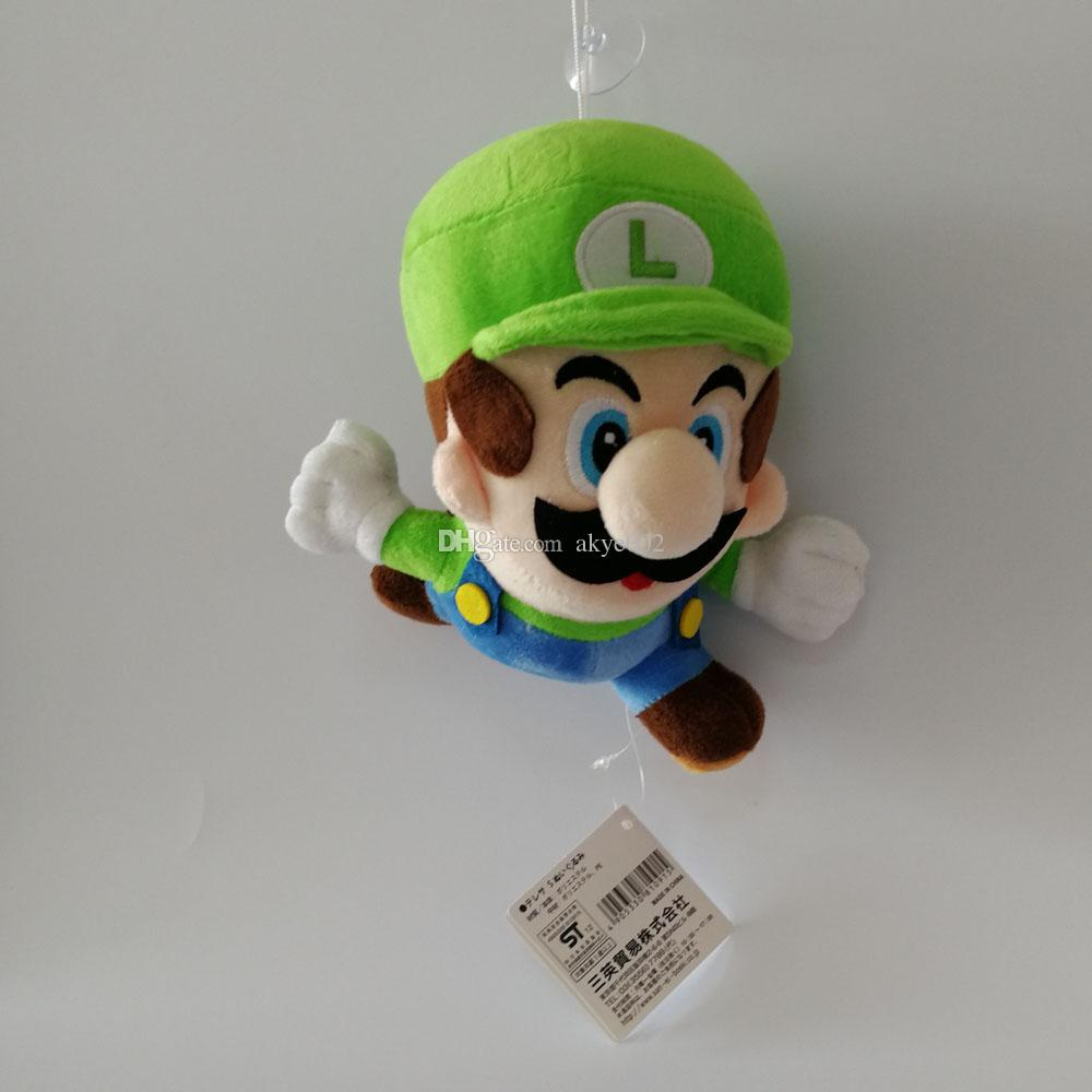 Hot Sale 16cm Super Mario Bros Running Mario And Luigi Plush Stuffed Doll Toy For Kids Best Holiday Gifts