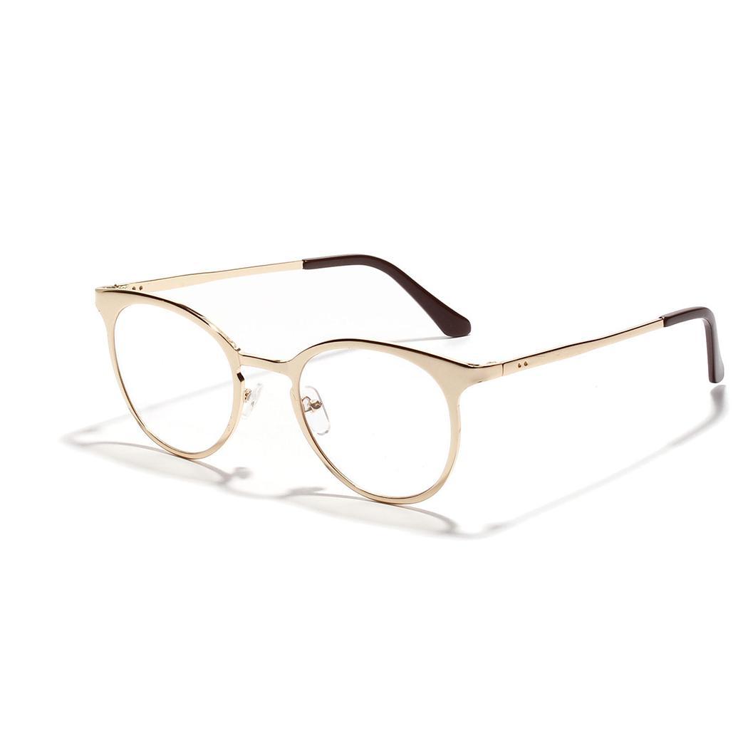 90b928e00c Cheap Men Women Gold Eye Glasses Frame Unisex Eyewear Rimless Clear Lens  Eyeglasses Frames Brand Prescription Myopia Spectacles