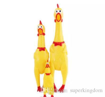 Adore Pet Dog Toys Rooster Attract Puppy Dog and Cat Pet Squeak Toys Screaming Rubber Chicken Pet Toys 3 Size