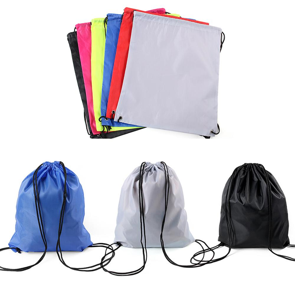 High Quality Nylon Drawstring Bag String Sack Beach Women Men Travel Storage Package Teenagers Backpack Solid Color Dropshipping Functional Bags Luggage & Bags