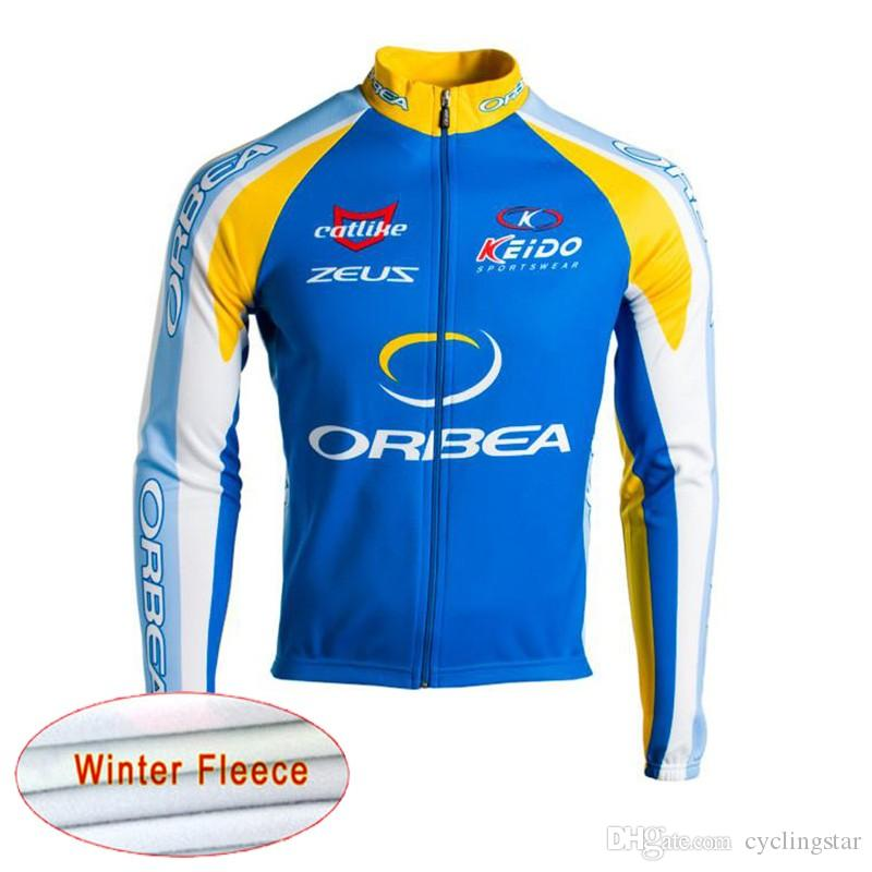 1c4079831 2018 Orbea Winter Thermal Fleece Men Cycling Jerseys Long Sleeve Ropa  Ciclismo MTB Bicycle Clothing Rock Racing Bike Clothes C1303 Cheap Cycling  Jerseys ...