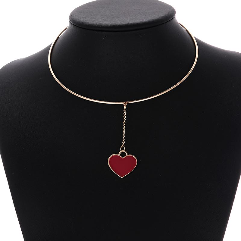 a74de0180712 2019 ZHINI Tiny Heart Choker Necklace For Women Gold Color Trendy Chain  Small Love Necklace Pendant Bohemian Choker Necklaces Jewelry From Bojiban