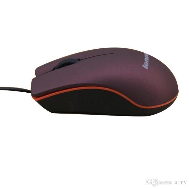 2019 Lenovo M20 Mini Wired 3D Optische USB Gaming Mäusemäuse Für Computer Laptop Game Mouse mit kleinkasten
