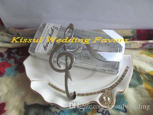 "Unique Wedding souvenirs ""Symphony"" Chrome Music Note Bottle Opener wedding gift for Bridal Shower Favors"