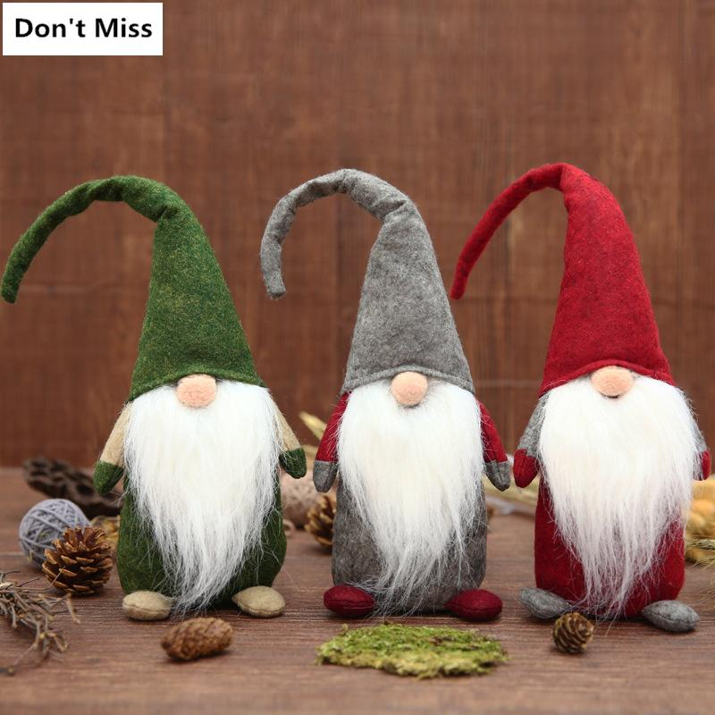 2018 swedish christmas tomtenisse santa claus decoration plush xmas funny gnome plush christmas kids gift shop christmas decorations shop christmas - Swedish Christmas Decorations