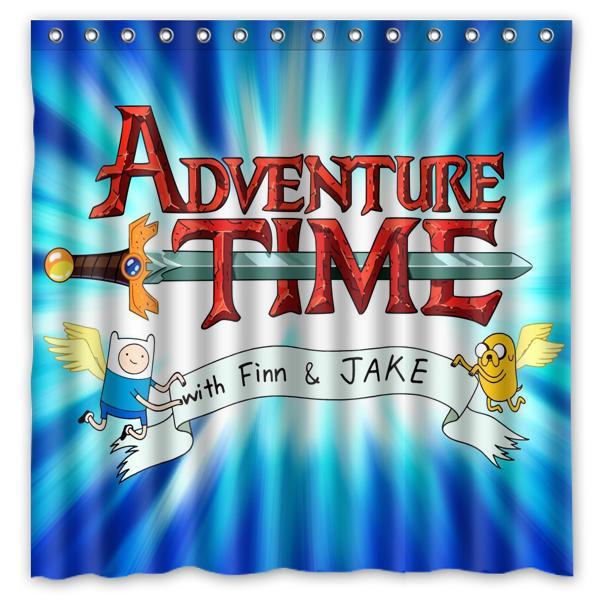 2018 Adventure Time 01 Custom Waterproof Shower Curtain 180x180 CM From Littleman913 3819