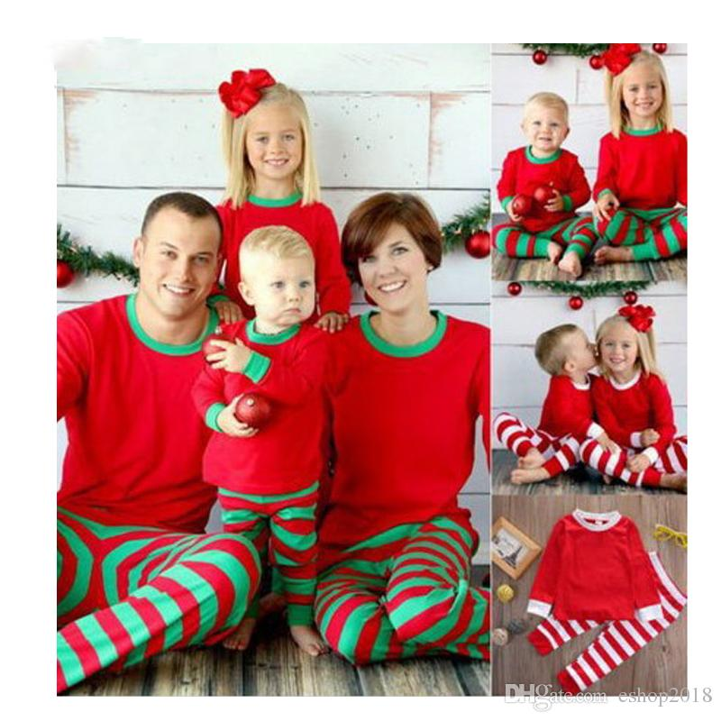 Best Deal Kids Adult Family Matching Christmas Deer Striped Pajamas ...